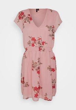 Vero Moda - VMALLIE CAPSLEEVE DRESS - Korte jurk - pink