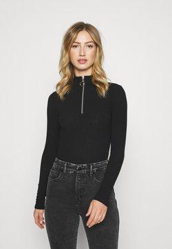 New Look - ZIP BODY - Langarmshirt - black