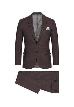 Zuitable - DINICK - Anzug - bordeaux karo