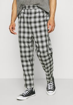 Vintage Supply - CASUAL CHECK TROUSER - Stoffhose - grey