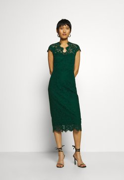 IVY & OAK - SHIFT DRESS MIDI - Cocktailkleid/festliches Kleid - eden green
