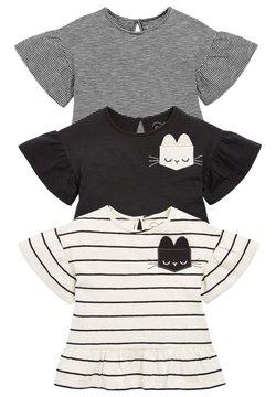 Next - 3 PACK - Camiseta estampada - black