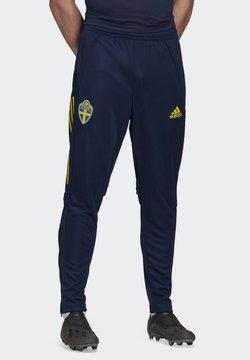 adidas Performance - SWEDEN SVFF TRAINING PANT - Landslagströjor - blue