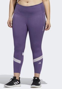 adidas Performance - HOW WE DO 7/8 LEGGINGS  (PLUS SIZE) - Tights - purple