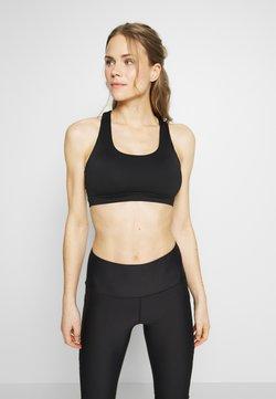 Cotton On Body - WORKOUT CUT OUT CROP - Urheiluliivit: kevyt tuki - black