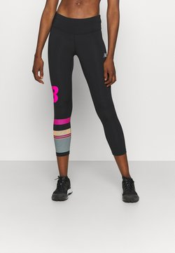 New Balance - PRINTED ACCELERATE CAPRI - Tights - pink