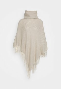 Pieces - PCFILIXA PONCHO - Cape - cloud dancer
