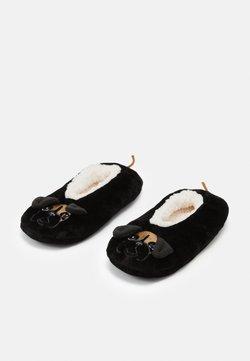 Wild Feet - BOXER DOG SLIPPERS  - Füßlinge - black