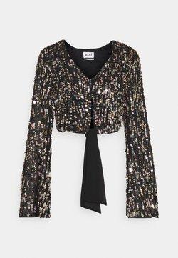 MANÉ - ZIA TOP - Blusa - black/gold/silver-coloured
