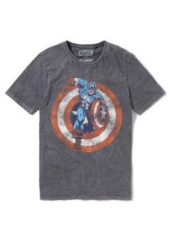 Re:Covered - MARVEL CAPTAIN AMERICA SHIELD - T-shirt print - grau