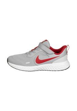Nike Performance - REVOLUTION 5 - Juoksukenkä/neutraalit - lite smoke grey / university red / photon dust