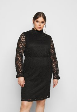 ONLY Carmakoma - CARLAICE KNEE DRESS - Vapaa-ajan mekko - black