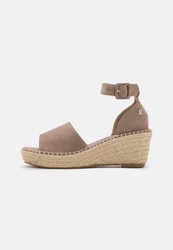 Refresh - Platform sandals - taupe