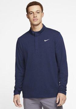 Nike Golf - NIKE DRI-FIT VICTORY HERREN-GOLFOBERTEIL MIT HALBREISSVERSCHLUSS - Sportshirt - dark blue