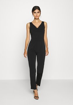 Anna Field - OCCASION - SLEEVELESS DEEP V JUMPSUIT - Combinaison - black