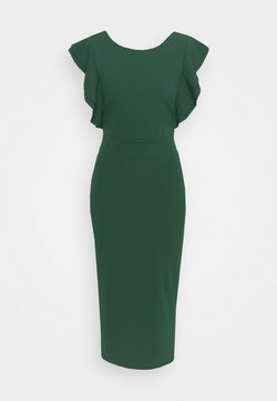 WAL G TALL - FRILL SLEEVE MIDI DRESS - Maxiklänning - forest green