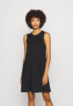 GAP - SOFTSPUN DRESS - Vestido ligero - true black