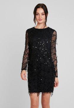 Nly by Nelly - FRINGE BODYCON DRESS - Cocktailkleid/festliches Kleid - black
