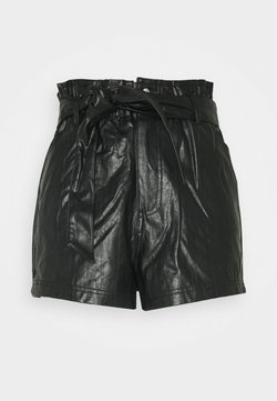 Miss Selfridge Petite - PAPERBAG SHORT - Shorts - black
