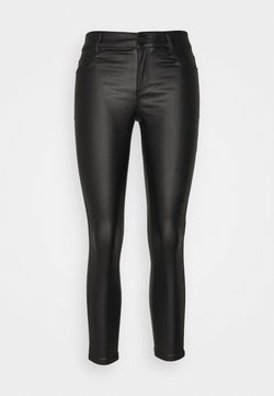 Dorothy Perkins Petite - COATED FRANKIE - Jeans Skinny Fit - black
