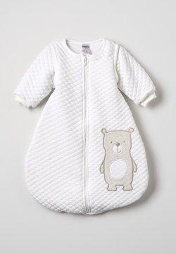 Jacky Baby - SCHLAFSACK MIT ABNEHMBAREN ÄRMELN HELLO WORLD - Sovpåse - off-white