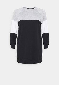 Missguided Plus - COLOURBLOCK DRESS - Freizeitkleid - black