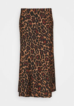 J.CREW - MARCO SKIRT LEOPARD - A-Linien-Rock - brown black