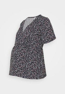 MAMALICIOUS - MLCARLA TESS TOP - Camiseta estampada - black