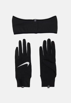 Nike Performance - WOMENS ESSENTIAL RUNNING HEADBAND AND GLOVE SET - Gloves - black/silver