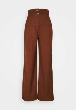 Proenza Schouler - STRETCH SUITING TIE WAIST PANTS - Stoffhose - maple