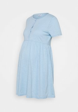 Cotton On - MATERNITY SHORT SLEEVE BABYDOLL MINI DRESS - Jerseykleid - authentic blue