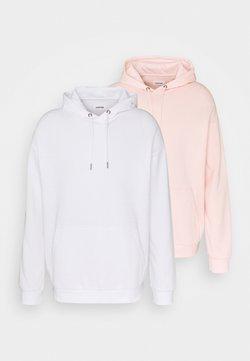 YOURTURN - 2 PACK UNISEX - Sweat à capuche - white/pink