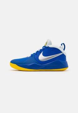 Nike Performance - TEAM HUSTLE D 9 UNISEX - Basketball shoes - game royal/metallic silver/photon dust