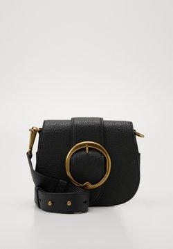 Polo Ralph Lauren - BELT SADDLE - Torba na ramię - black