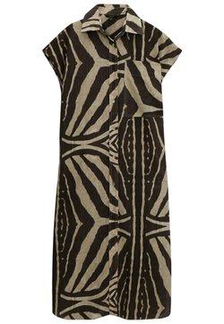 Massimo Dutti - MIT ZEBRAPRINT - Sukienka koszulowa - brown