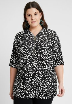 New Look Curves - SPOT ZIP FRONT - Printtipaita - black
