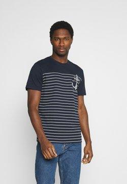 TOM TAILOR - PRINTED HARBOUR STRIPE - T-Shirt print - dark blue