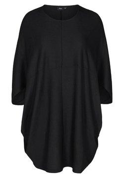 Zizzi - EINFARBIGES MIT STRUKTUR - Vestido informal - black