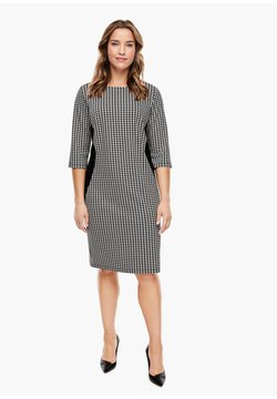 Triangle - Jerseykleid - black houndstooth aop