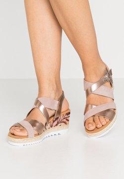 Gabor Comfort - Platform sandals - luxor metallic/rame rose