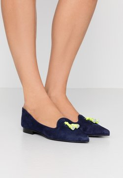 Chatelles - FRANÇOIS POINTY TASSELS - Ballerina's - navy/neon yellow