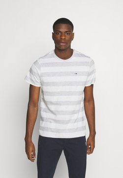 Tommy Jeans - HEATHER STRIPE TEE - T-Shirt print - white