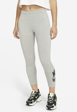 Nike Sportswear - Tights - dark grey heather/white