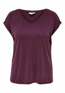 ONLY Carmakoma - OBERTEIL CURVY V-AUSSCHNITT - T-shirt basique - winetasting