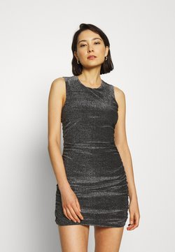 Third Form - MIRAGE HALTER DRESS - Vestito elegante - black metal