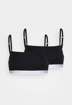 Calvin Klein Underwear - CK ONE UNLINED BRALETTE 2 PACK - Brassière - black