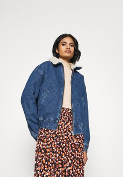 BDG Urban Outfitters - QUILTED HARRINGTON JACKET - Veste en jean - dark vintage