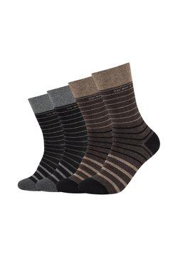 camano - SOCKS UNISEX 4 PACK - Socken - dark brown melange