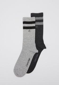 Calvin Klein Underwear - STRIPES CASUAL CREW 2 PACK - Socken - grey