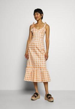 Who What Wear - TIE STRAP BUSTIER DRESS - Freizeitkleid - orange